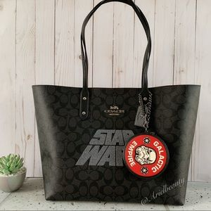 2PCS STAR WARS X COACH TOWN TOTE & Coin Case
